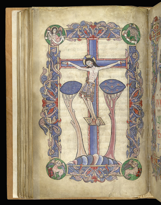 Crucifixion, The Arundel Psalter f.52v (British Library)